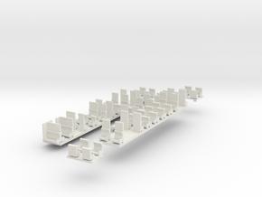 Plan U n-schaal (1:160) stoelen in White Natural Versatile Plastic