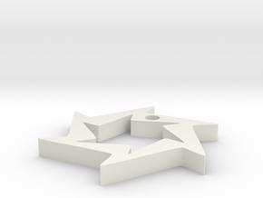 Saw blade pendant #1 in White Natural Versatile Plastic
