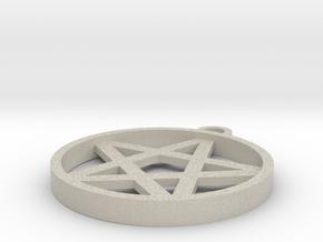 Simple Pentagram Pendant in Natural Sandstone