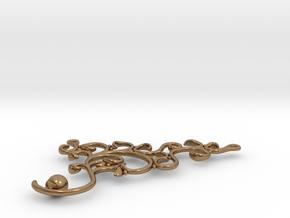 Arabesque Pendant in Natural Brass