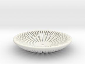 Segmenta ceramic bowl in White Natural Versatile Plastic