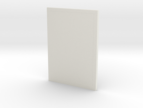 DIN A5 paper holder in White Natural Versatile Plastic