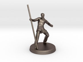 Avric (Human Monk) in Polished Bronzed Silver Steel