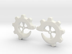 Gear-ring 00g in White Natural Versatile Plastic