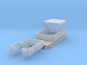 Pontoon Boat N 1:160 Flat Bottom in Frosted Ultra Detail