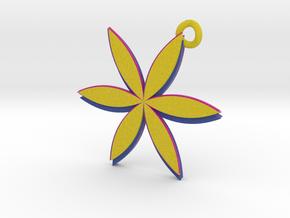 2 sided Flower Pendant in Full Color Sandstone