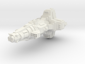 Sverige Heavy Cruiser in White Natural Versatile Plastic