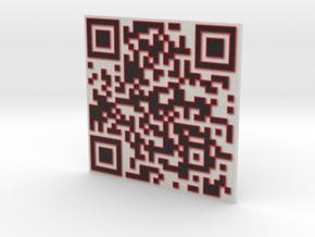 QR 3D black w/red 3in in Full Color Sandstone