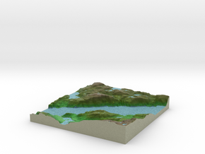 Terrafab generated model Wed Dec 11 2013 19:42:28  in Full Color Sandstone