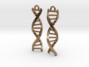 Helix Earrings in Natural Brass
