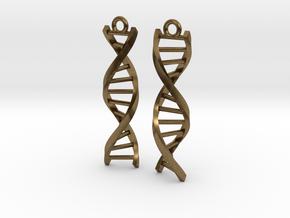 Helix Earrings in Natural Bronze