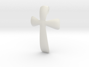 basic CROSS pendant in White Natural Versatile Plastic