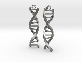 Helix Earrings in Natural Silver