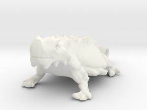 TEXAS Honed Frog in White Natural Versatile Plastic