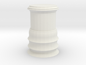 40mm Display Pedestal in White Natural Versatile Plastic