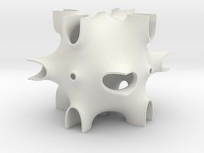 CPCPB periodic minimal surface in White Natural Versatile Plastic