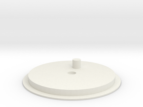 Top plate in White Natural Versatile Plastic