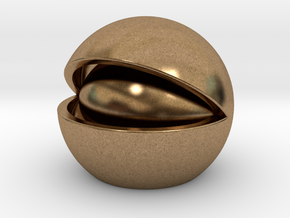 Nut in Natural Brass