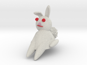 Bunny Rabbit Sitting in Full Color Sandstone