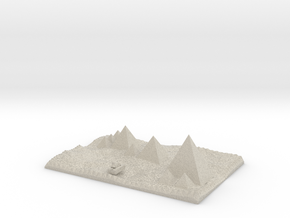 Pyramids Of Giza And Sphinx Model in Sandstone