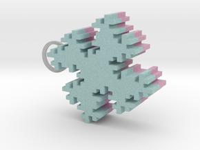2 Sided Fractile Pendant in Full Color Sandstone