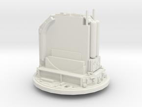 Rail gun turret - free in White Natural Versatile Plastic