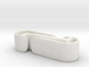 Active Clip in White Natural Versatile Plastic