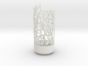 Megan1 in White Natural Versatile Plastic