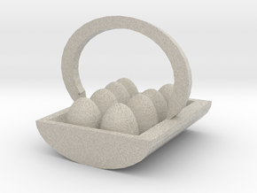 Egg Basket in Sandstone