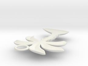 Palm Tree Pendant in White Natural Versatile Plastic