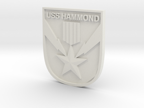 USS Hammond Logo in White Strong & Flexible