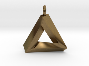 Penrose Triangle - Pendant (3.5cm | 3.5mm O-Ring) in Natural Bronze