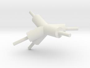 tisch_konnektor_08 in White Natural Versatile Plastic