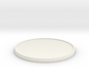 Round Model Base 55mm in White Natural Versatile Plastic