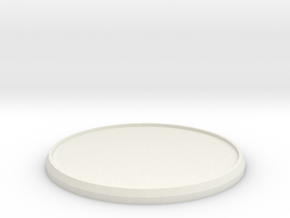 Round Model Base 50mm in White Natural Versatile Plastic