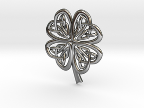 Celtic Shamrock in Polished Silver