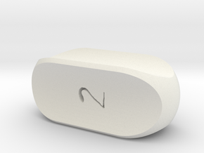 4-Sided Prism Die in White Natural Versatile Plastic
