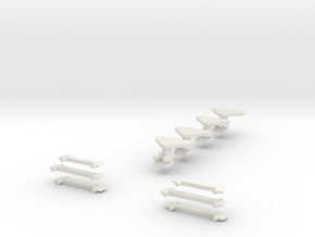 Plan U n-schaal (1:160) reserve koppelingen in White Natural Versatile Plastic