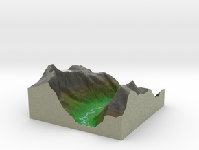 Terrafab generated model Mon Dec 16 2013 22:34:29  in Full Color Sandstone