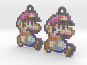MarioWorldEarringPendant in Full Color Sandstone