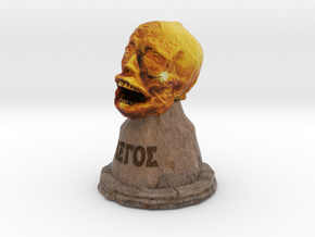 """The Head of St. Legos"" in Full Color Sandstone"