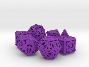 Steampunk Dice Set in Purple Strong & Flexible Polished