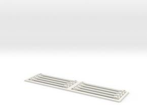 Paddlewheel Linkarms in White Natural Versatile Plastic