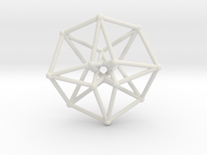 Toroidal Hypercube 50mm 2mm Time Traveller in White Natural Versatile Plastic