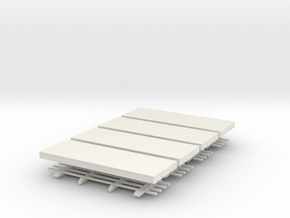 HOn30 chassis For Clever Models Freight Cars (x 4) in White Natural Versatile Plastic