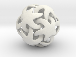 Just another starfish dodecahedron in White Natural Versatile Plastic