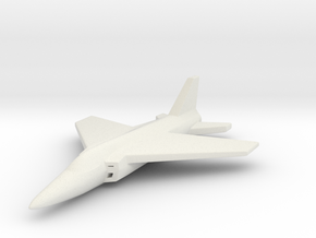 1/285 (6mm) Folland-Gnat in White Natural Versatile Plastic