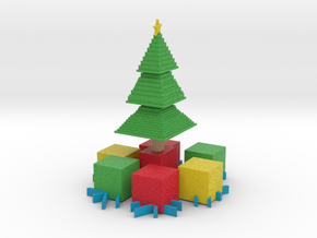 Xmas Tree and presents in Full Color Sandstone