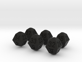 Lotto Dice(6x49) in Black Strong & Flexible