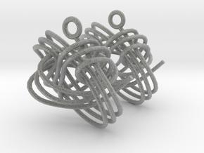 Monkey Fist Earings in Metallic Plastic